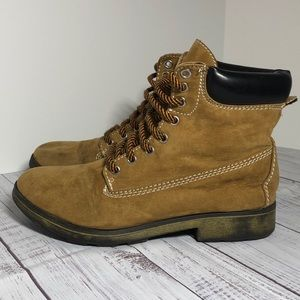 Candies Tan Boots Size 9 Lace Up